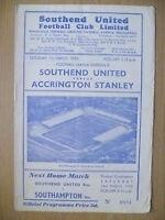 1959 Official Programme- SOUTHEND UNITEDv ACCRINGTON STANLEY
