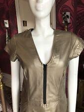 Vestido De Piel De Oro Talla Mediana Reino Unido 12-Moka London