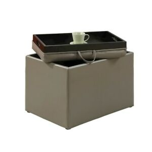 Convenience Concepts Designs4Comfort Accent Storage Ottoman, Grey - 143523GY