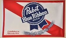 PABST BLUE RIBBON BEER BANNER FLAG 3' X 5' garage Wall Bar Advertising US Seller