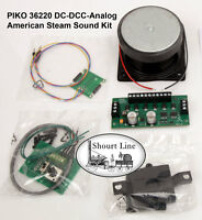 G SCALE PIKO 36220 DCC &Analog American Steam Sound &MotorDecoder Kit 6FREE MAGS