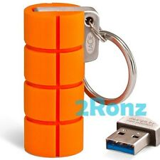 LaCie RuggedKey 64GB 64G USB 3.0 Flash Drive Disk Stick Memory Rubber Metal Key
