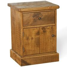NEW SOLID WOODEN bedside cabinet chest drawers table RUSTIC PLANK PINE FURNITURE