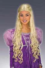 Adult Long Medieval Queen Guinevere Arthur Renaissance Maiden Costume Wig Blonde