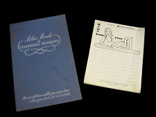 Vintage Blue Book of Telephone Numbers Southwestern Bell + Old Memo Pad
