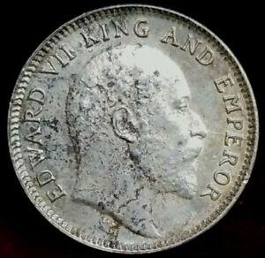 1907 1/4 rupee India