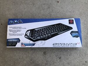Brand New With BOX Mad Catz S.T.R.I.K.E.M Wireless Keyboard English Black