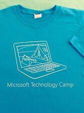 Vintage Microsoft Technology Camp Computer Geek PC T-shirt Mens Medium