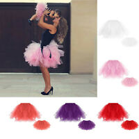 Kids Baby Girls Women Adult Tutu Skirts Mini Ballet Princess Fancy Dress Party