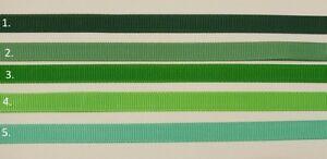 "3/8"" (9 mm) Grosgrain Ribbon Green Range Craft Scrapbooking Cake decorations"