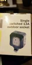 Dial Single Switched  13A Outdoor Socket
