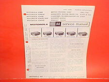 1966 1967 AUSTIN HEALEY 3000 TRIUMPH MG MIDGET MOTOROLA AM RADIO SERVICE MANUAL