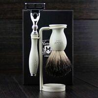 Vintage shaving kit gift set for mens with shaving razor shaving brush shave kit