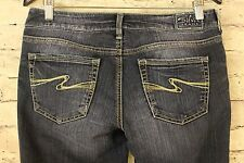 Silver Jeans Women's Aiko Mid Rise Boot Cut Dark Wash Denim Size 29/31