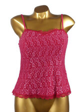 ARIANNE - TAILLE XL - Haut Bustier Dentelle 5572, Rouge/Rose