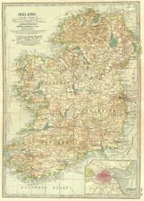 IRELAND.w/ Williamite/Confederate wars Irish Rebellion battles/dates 1903 map
