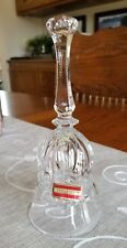 "Vintage Beautiful Western Germany Bleikristall Lead Crystal Bell 24% PbO 8"" Tall"