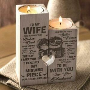 To My Wife - Valentine Gift I Want All Of My Last To Be With You - Candle Holder