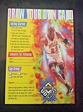 1998 Upper Deck UD Choice Draw Your Own Card Entry Michael Jordan Card