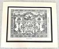 1903 Antique Print French Decorative Wall Panel Louis XIV Palace Jean Berain