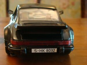 1/16 Porsche 911 Turbo Coupe Rare 930 Black with Cream Hide Whale Tail 1/18