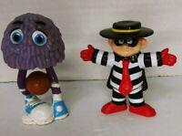 McDonalds HamBurglar & Fry Guy Basket Ball Figures Vintage Happy Meal Toy