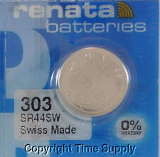 1 pc 303 Swiss Renata Watch Batteries (SR44SW) SR44  0% MERCURY