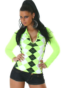 Damen Pullover Shirt Sweater Langarm Sweatshirt 34 36 S M