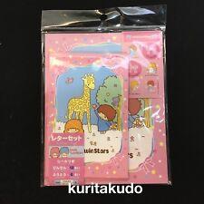 Daiso Japan Little Twin Stars Kiki&Lala Letter Set Paper 12 Envelope 6 Sanrio