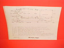 1966 PONTIAC TEMPEST LEMANS GTO CONVERTIBLE HARDTOP WAGON FRAME DIMENSION CHART