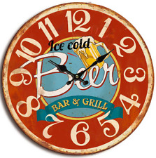 Balance Bar & Grill old vintage look Wall Clock 40 cm Analogue Red big numbers