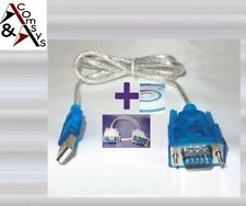 Adaptador USB-rs-232 serie rs232 9pin win PC Mac Linux + cable de módem nulo #usn