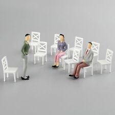Wholesale White Model Modern Chair 1:25 Scale Dimension:16*34mm DIY Decor