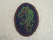 """Brown Green HORSE 3-3/4"""" Embroidery Iron-on Custom Patch (E4)"""