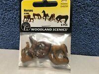 Woodland Scenics A1989 HO Scale Horses Figures - 6 pc