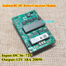 Input voltage DC-DC 36V-72V 48V To 12V 18A 200W Isolated Output Converter Module