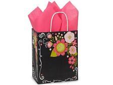 250 Chalkboard Flower Paper Shopping Bags Gift Wholesale Retail Merchandise Bulk