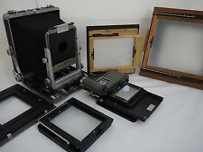 Rittreck Wista camera with 4x5  5x7  6x9 8x10 backs Mamiya roll film