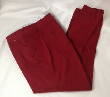 Pants Soft Cotton Twill red spice color sizes 14 Christopher & Banks