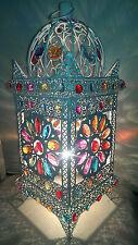 Splendido stile Marocchino Colorato Jeweled Cutwork Fiore Lampada da tavolo NUOVO di zecca