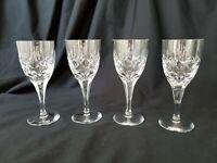 "Atlantis Crystal Wine Glasses Fernando Simple Cuts RARE 6"" Tall Set of 4"