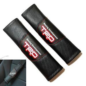 2Pcs TRD Carbon Fiber Look Seat Belt Cover Shoulder Pads Cushion Universal
