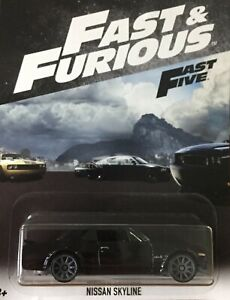 Nissan Skyline Automobile Fast & Furious 1/64 6CM Hot Wheels And Fast Five Fate