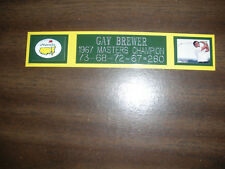GAY BREWER (GOLF) 1967 MASTERS CHAMP ENGRAVED NAMEPLATE FOR PHOTO/DISPLAY/POSTER