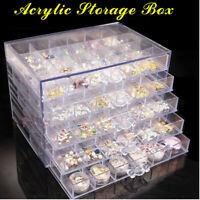 Boîte de Rangement Transparente de 120 perles de Bijoux de grille Bouts  +A