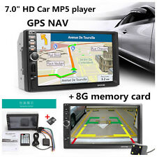 HD 7'' Touch Screen 8G Car GPS Bluetooth Stereo MP5 Player & North American Map