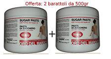 Pasta di Zucchero Depilazione araba 2x500g=1KG Olio di ARGAN e MIELE-Arcocere
