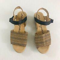 Easy Spirit Kala Women's 10 M Beige Cork Open Toe Lightweight Low Wedge Sandals
