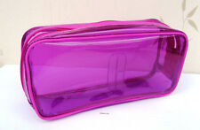 Clinique Large Rectangular Pink Clear Travel Bag New