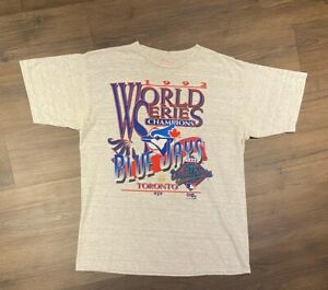 Toronto Blue Jays 1992 World Series Champs Graphic Vintage Grey T-Shirt Unisex